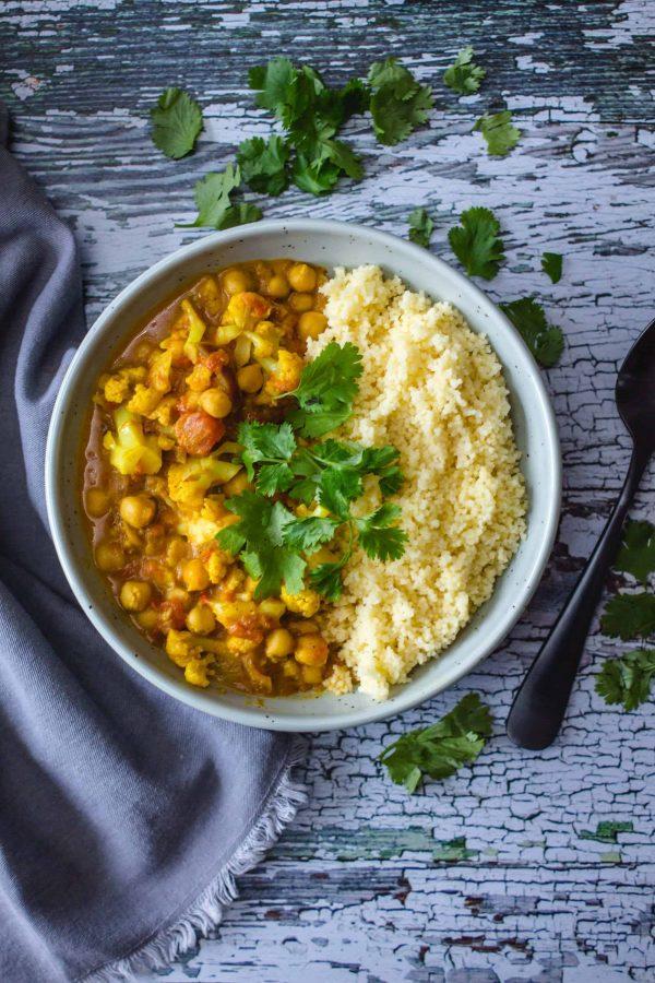 Curry de Chou-Fleur et Pois Chiches